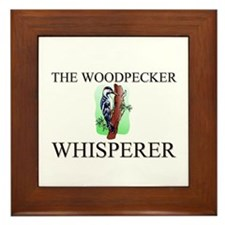 The Woodpecker Whisperer Framed Tile