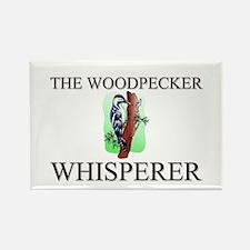 The Woodpecker Whisperer Rectangle Magnet