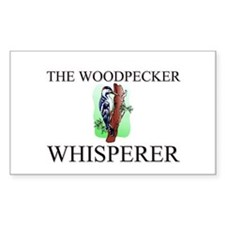 The Woodpecker Whisperer Rectangle Decal