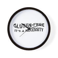 GLUTEN-FREE IT'S A NECESSITY Wall Clock