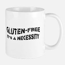 GLUTEN-FREE IT'S A NECESSITY Right Hand Mug