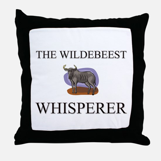 The Wildebeest Whisperer Throw Pillow