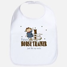 Future Horse Trainer like Uncle Baby Infant Bib