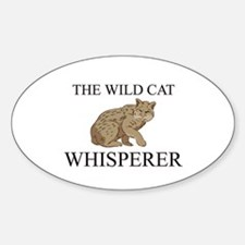The Wild Cat Whisperer Oval Decal