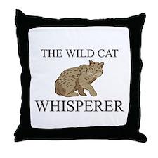 The Wild Cat Whisperer Throw Pillow