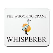 The Whooping Crane Whisperer Mousepad