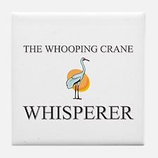 The Whooping Crane Whisperer Tile Coaster