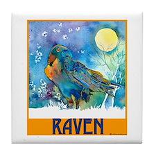 Lunar Raven 2 Tile Coaster