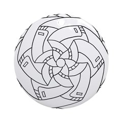 B/W Success Ornament (Round)