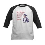 My Mommy Loves Me Because... Kids Baseball Jersey