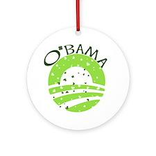 Obama St. Patrick's Day Ornament (Round)