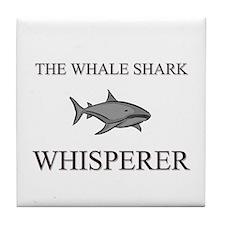The Whale Shark Whisperer Tile Coaster