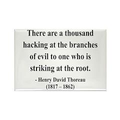 Henry David Thoreau 34 Rectangle Magnet (100 pack)