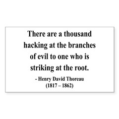 Henry David Thoreau 34 Rectangle Decal