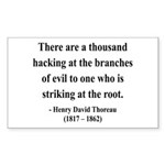 Henry David Thoreau 34 Rectangle Sticker