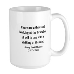 Henry David Thoreau 34 Large Mug