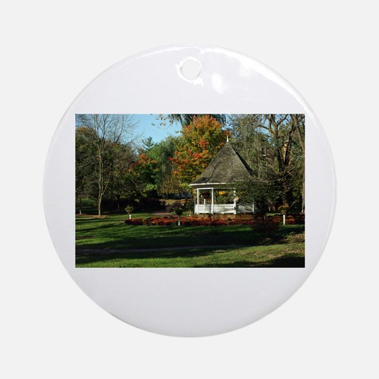 Fall Gazebo Ornament (Round)