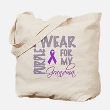 Funny Pancreatic cancer grandma Tote Bag