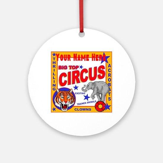 Retro Circus Round Ornament