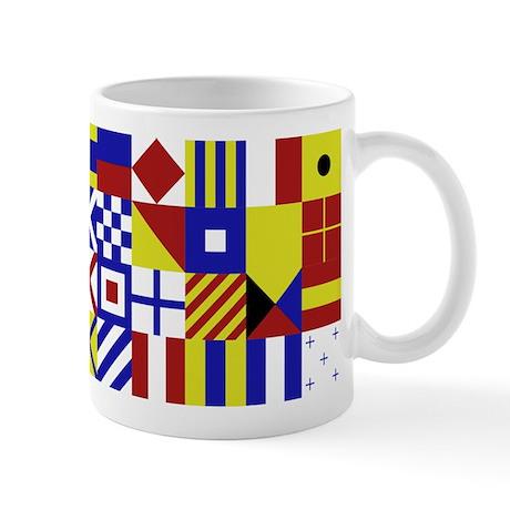 All Naval Flag Code Mug