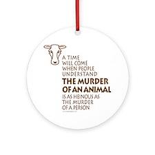 Veganism / Vegetarianism Ornament (Round)