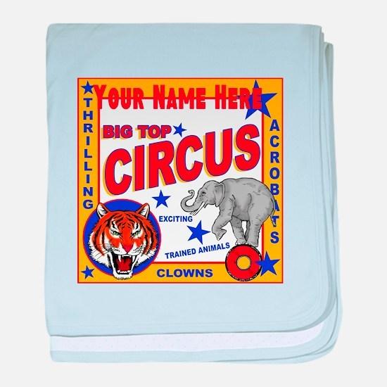 Retro Circus baby blanket
