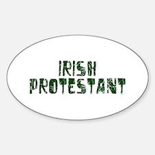 Irish Protestant Oval Decal