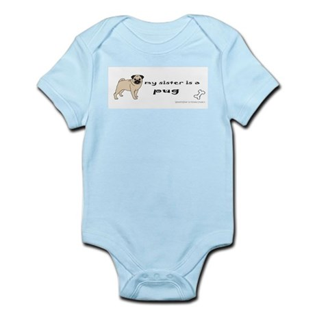 pug gifts Infant Bodysuit