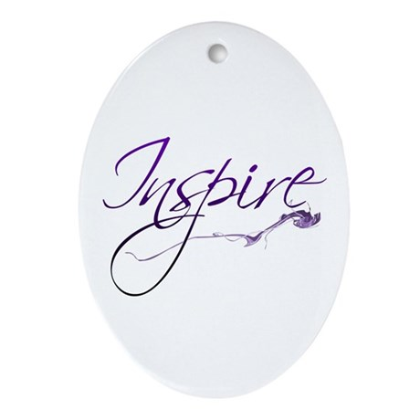 Inspire Oval Ornament