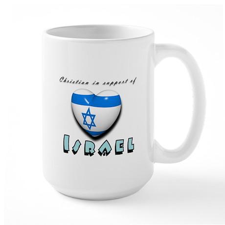 Christian Support Israel Large Mug