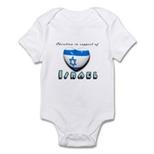 Christian Support Israel Infant Bodysuit