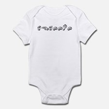 Shannon-blk Infant Bodysuit