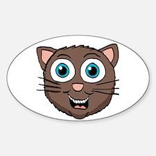 Cute brown kitty Head Decal