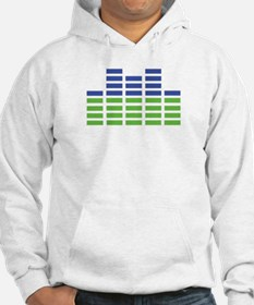 blue green equalizer Hoodie