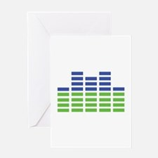 blue green equalizer Greeting Card