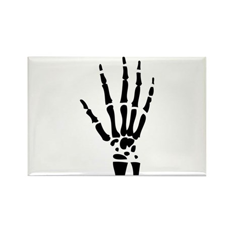 skeleton halloween hand Rectangle Magnet (10 pack)