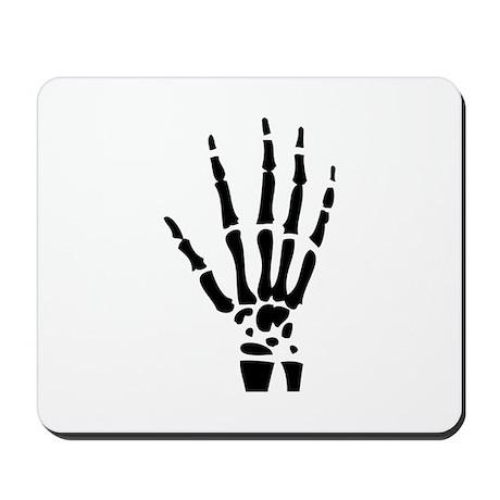 skeleton halloween hand Mousepad