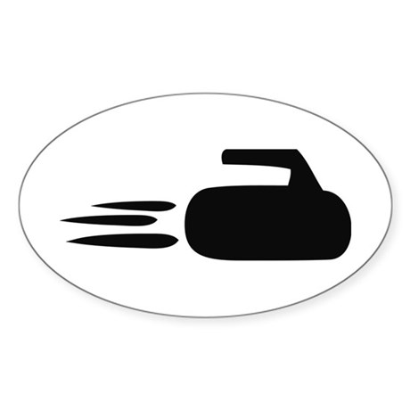 curling icon Oval Sticker