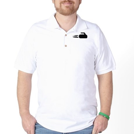 curling icon Golf Shirt