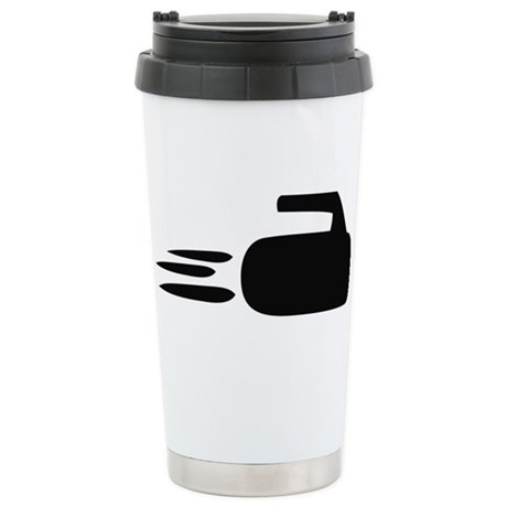 curling icon Stainless Steel Travel Mug