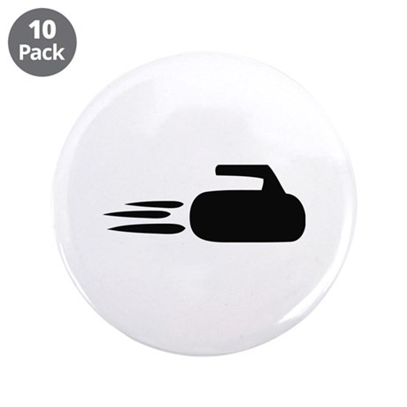 """curling icon 3.5"""" Button (10 pack)"""