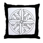B/W Ancient Wisdom Throw Pillow