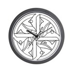B/W Ancient Wisdom Wall Clock