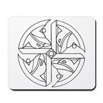 B/W Ancient Wisdom Mousepad