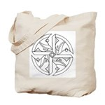 B/W Ancient Wisdom Tote Bag