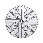 B/W Ancient Wisdom Ornament (Round)
