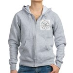 B/W Ancient Wisdom Women's Zip Hoodie