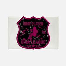 Oboe Player Diva League Rectangle Magnet
