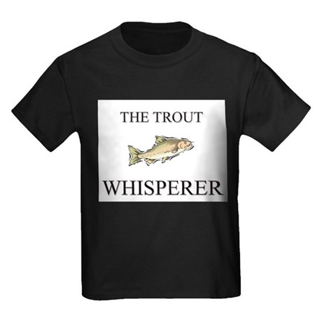 The Trout Whisperer Kids Dark T-Shirt