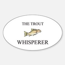 The Trout Whisperer Oval Decal
